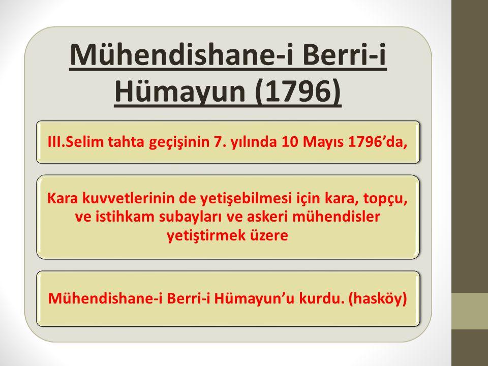Mühendishane-i Berri-i Hümayun (1796)