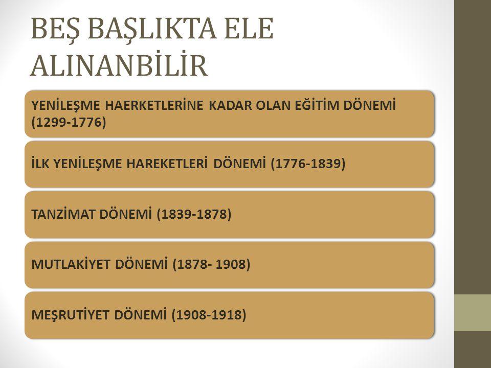 BEŞ BAŞLIKTA ELE ALINANBİLİR