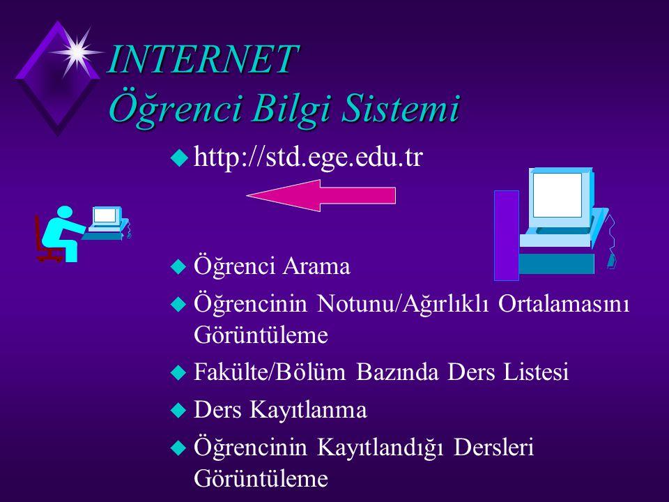 INTERNET Öğrenci Bilgi Sistemi