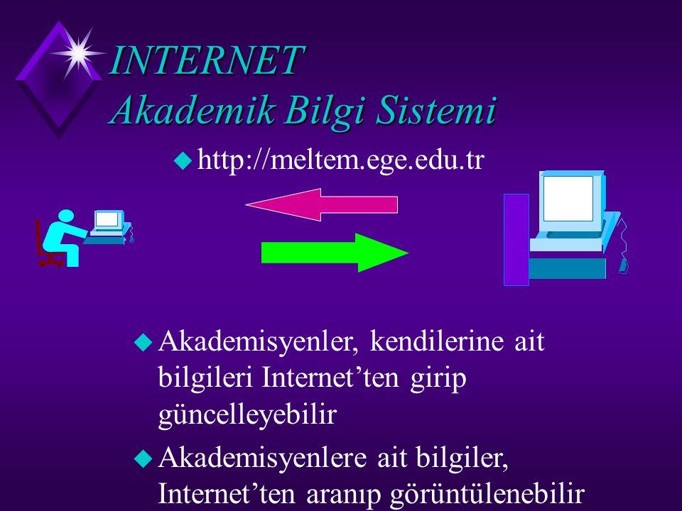 INTERNET Akademik Bilgi Sistemi
