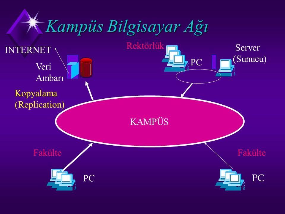 Kampüs Bilgisayar Ağı Rektörlük Server (Sunucu) INTERNET PC