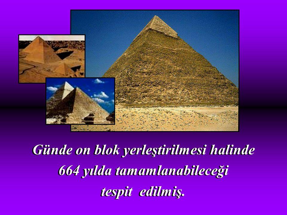 Günde on blok yerleştirilmesi halinde 664 yılda tamamlanabileceği