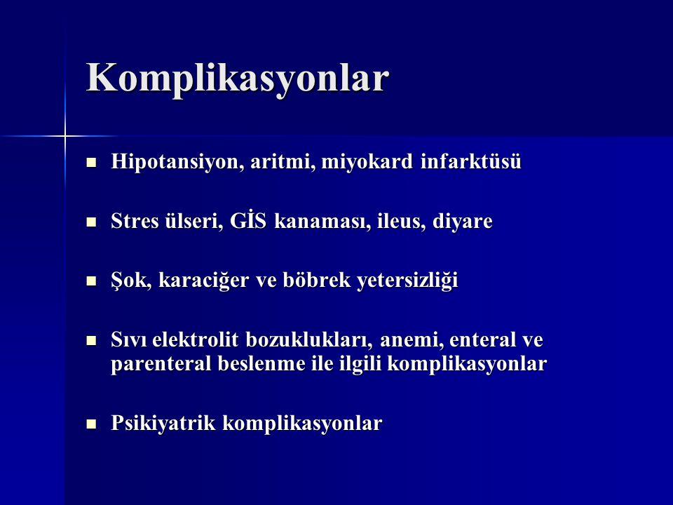 Komplikasyonlar Hipotansiyon, aritmi, miyokard infarktüsü