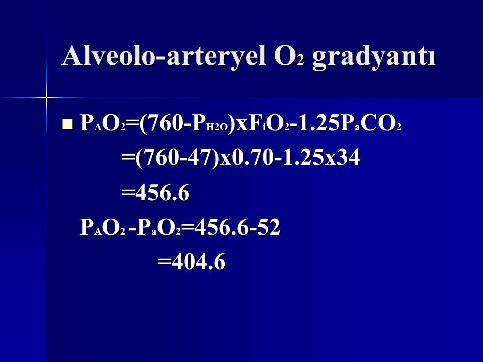 Alveolo-arteryel O2 gradyantı
