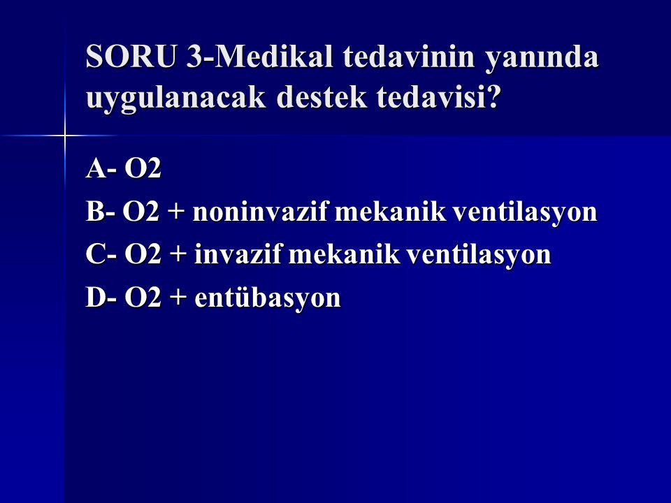SORU 3-Medikal tedavinin yanında uygulanacak destek tedavisi