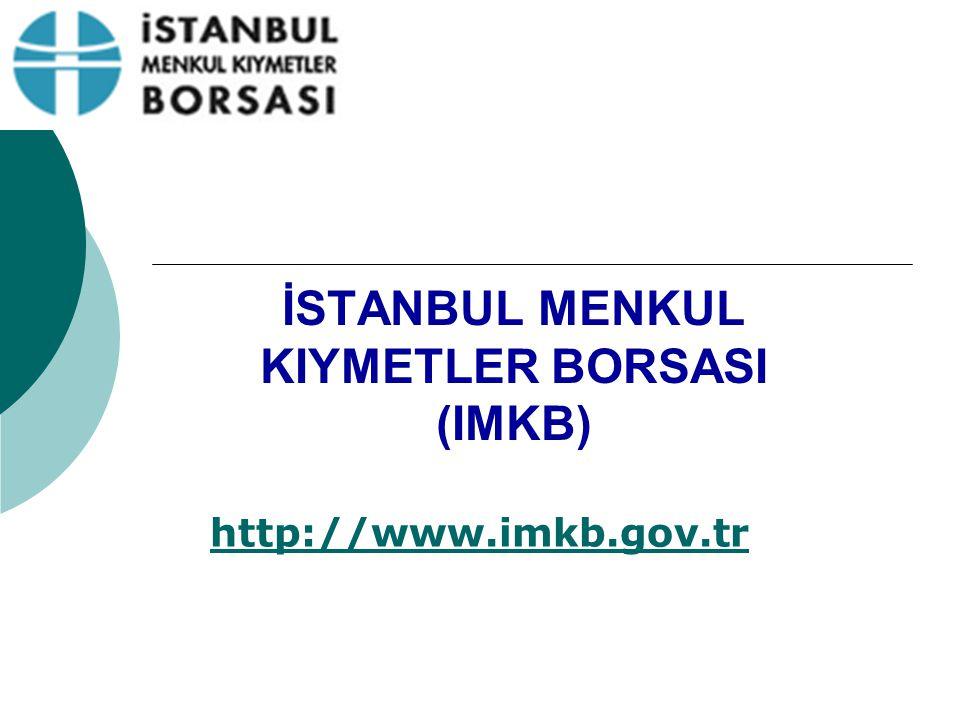 İSTANBUL MENKUL KIYMETLER BORSASI (IMKB)