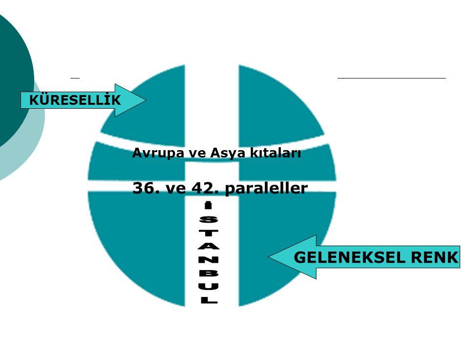 36. ve 42. paraleller İSTANBUL GELENEKSEL RENK KÜRESELLİK