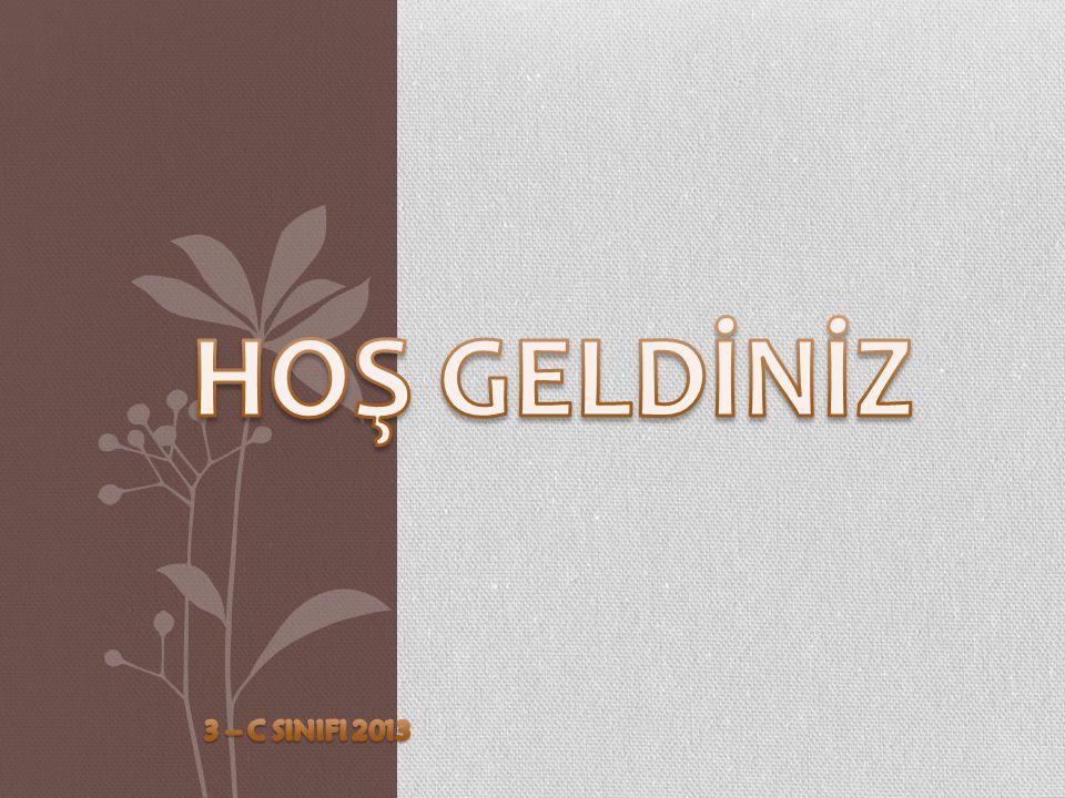 HOŞ GELDİNİZ 3 – C SINIFI 2013