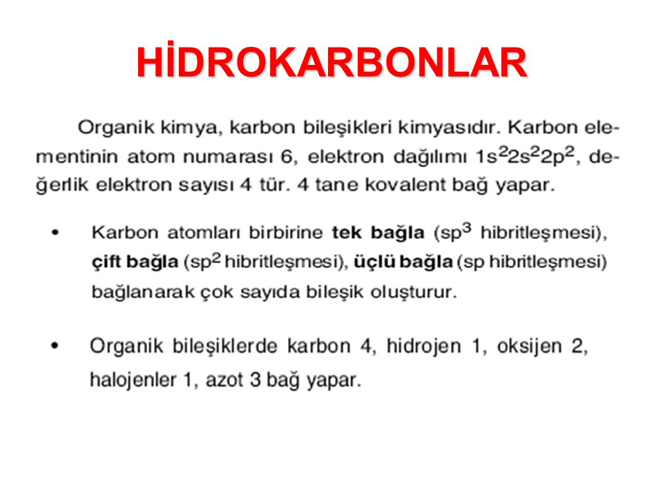 HİDROKARBONLAR
