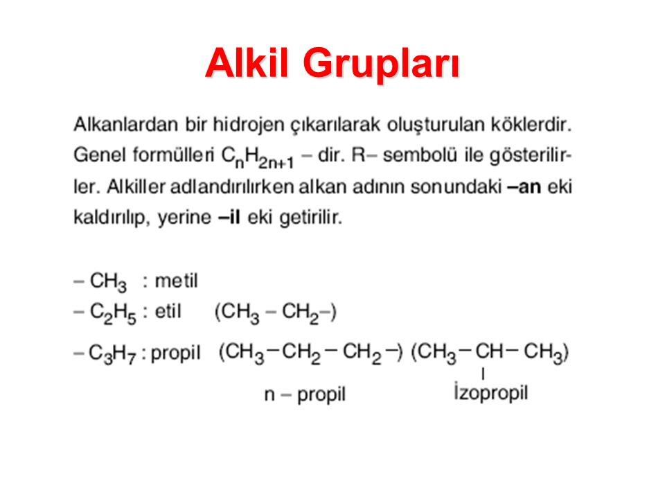 Alkil Grupları