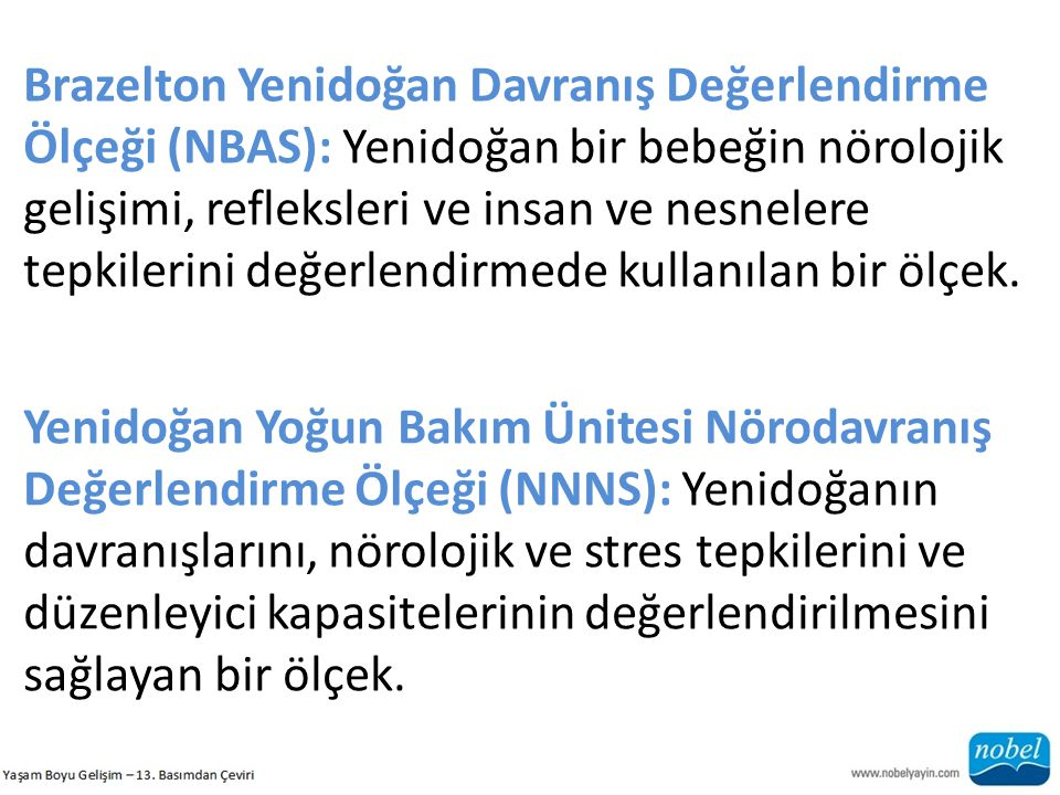 Brazelton Yenidoğan Davranış Değerlendirme