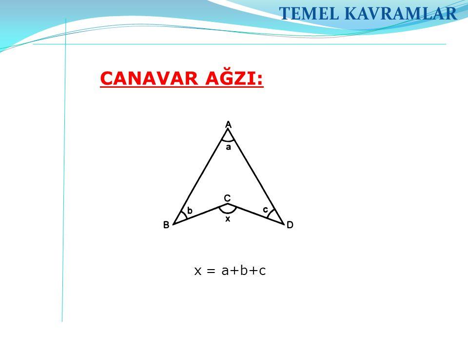 TEMEL KAVRAMLAR CANAVAR AĞZI: x = a+b+c