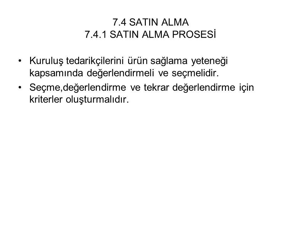 7.4 SATIN ALMA 7.4.1 SATIN ALMA PROSESİ