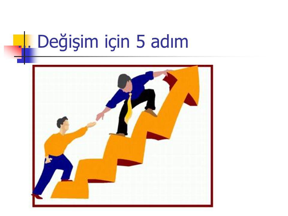 … Değişim için 5 adım