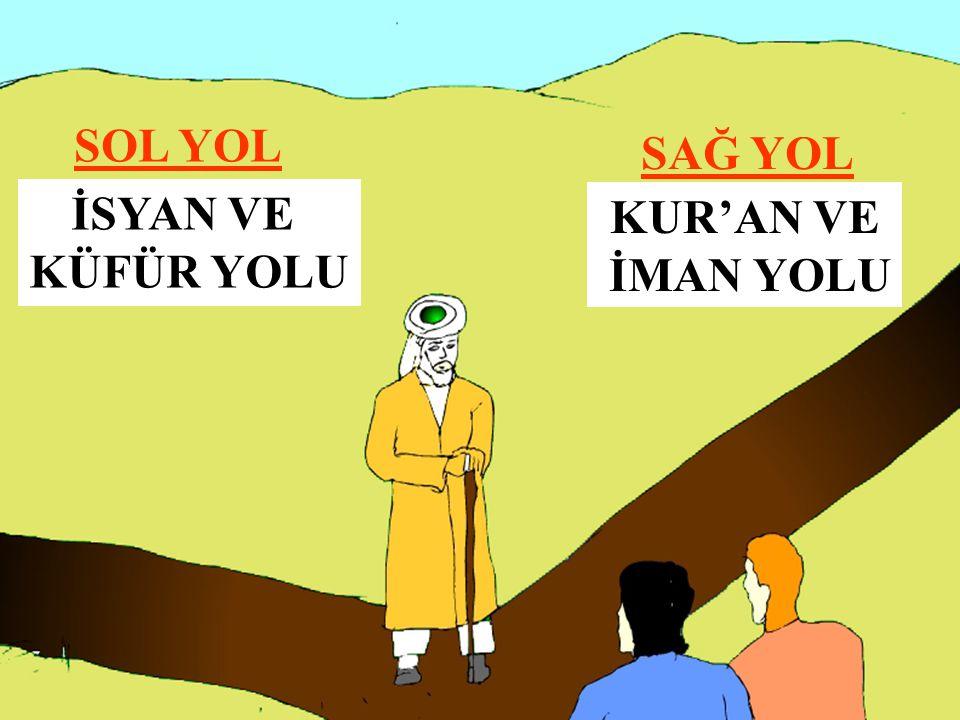 SOL YOL SAĞ YOL İSYAN VE KÜFÜR YOLU KUR'AN VE İMAN YOLU