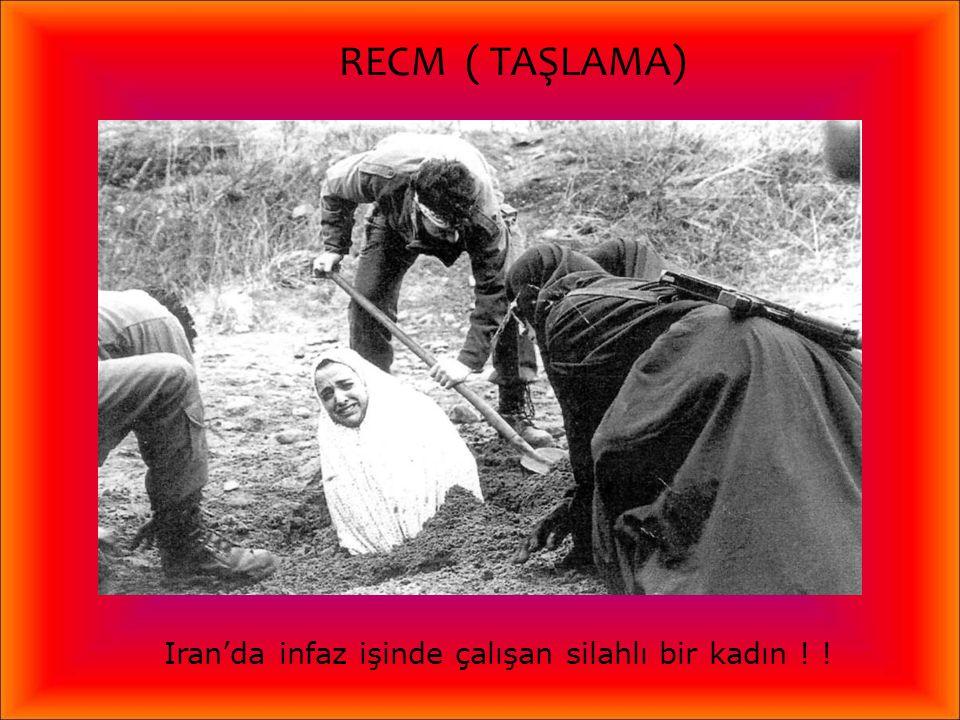 Iran'da infaz işinde çalışan silahlı bir kadın ! !