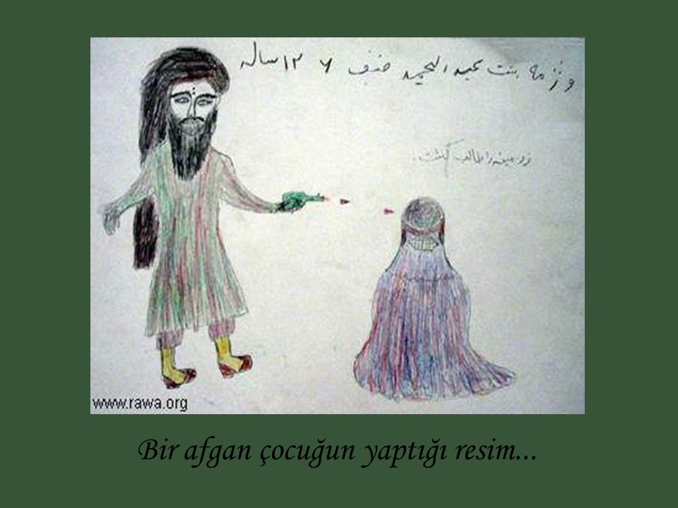 Bir afgan çocuğun yaptığı resim...