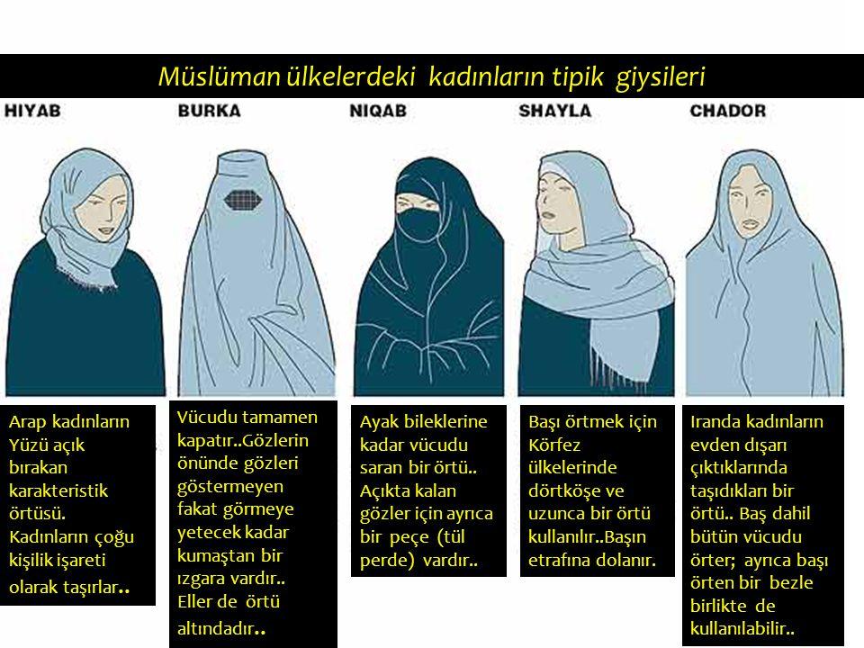 Müslüman ülkelerdeki kadınların tipik giysileri