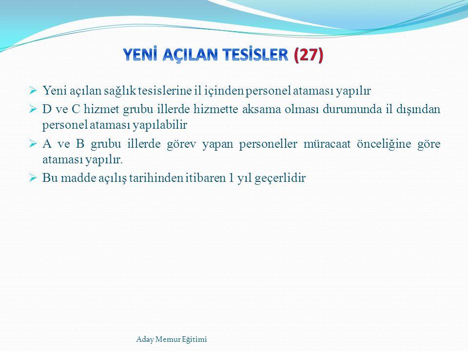 YENİ AÇILAN TESİSLER (27)
