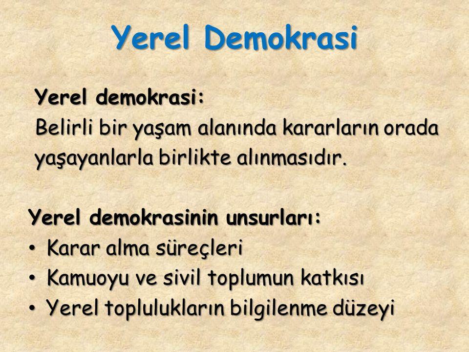 Yerel Demokrasi Yerel demokrasi: