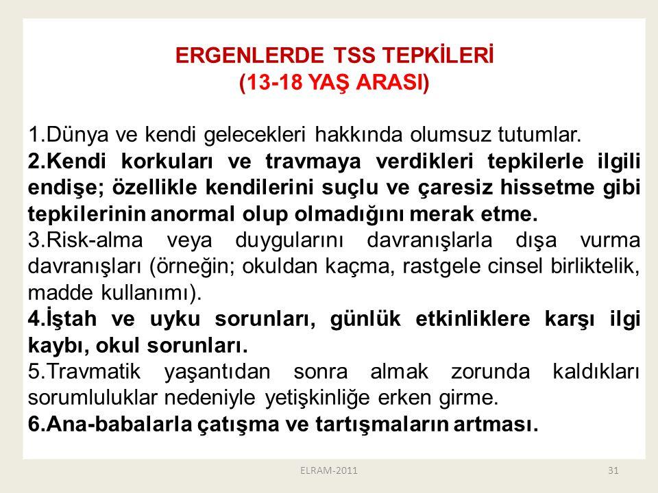 ERGENLERDE TSS TEPKİLERİ