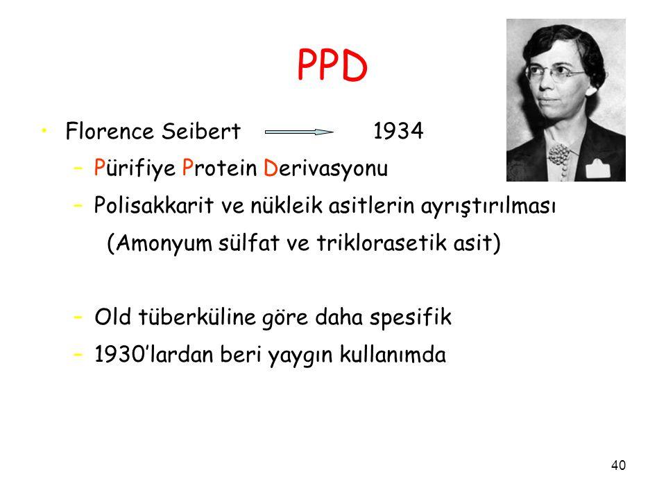 PPD Florence Seibert 1934 Pürifiye Protein Derivasyonu