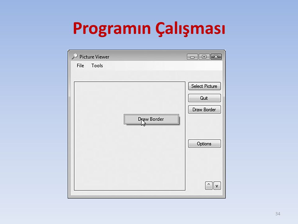 Programın Çalışması
