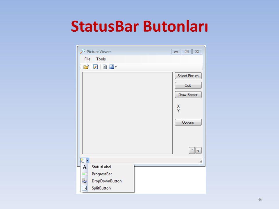 StatusBar Butonları