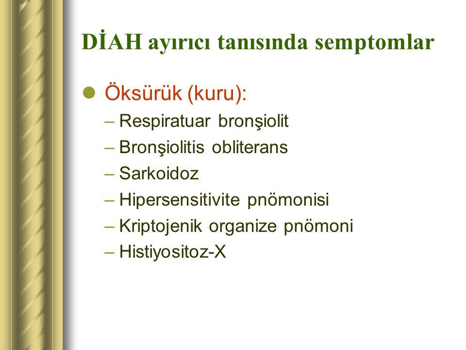 DİAH ayırıcı tanısında semptomlar