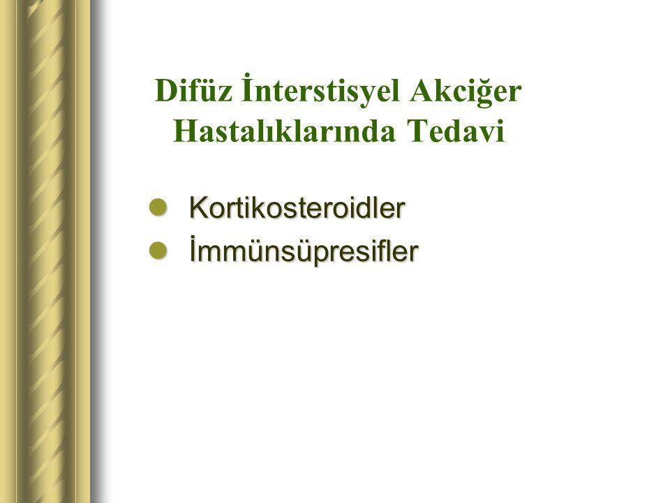 Difüz İnterstisyel Akciğer Hastalıklarında Tedavi