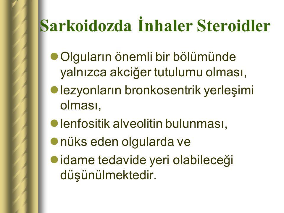 Sarkoidozda İnhaler Steroidler