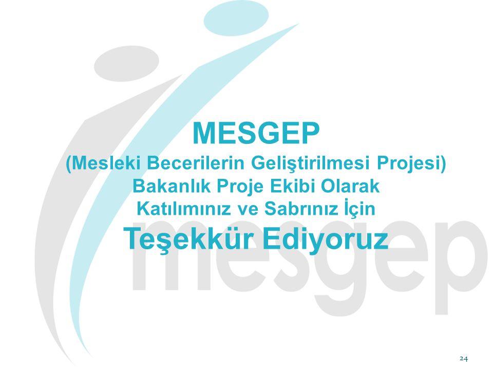 MESGEP Teşekkür Ediyoruz