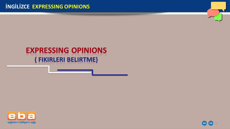 EXPRESSING OPINIONS ( fikirleri belirtme)