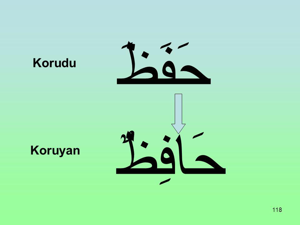 حَفَظَ Korudu حَافِظٌ Koruyan
