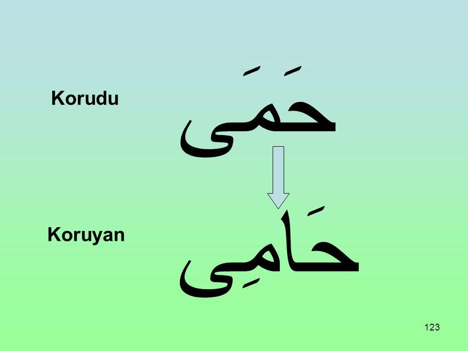حَمَى Korudu حَامِى Koruyan
