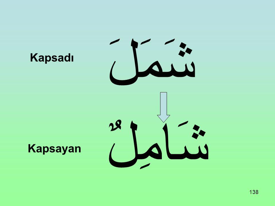 شَمَلَ Kapsadı شَامِلٌ Kapsayan
