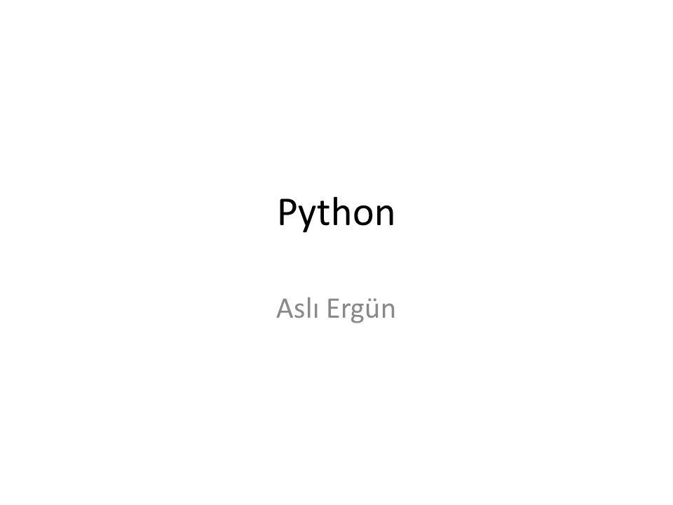 Python Aslı Ergün