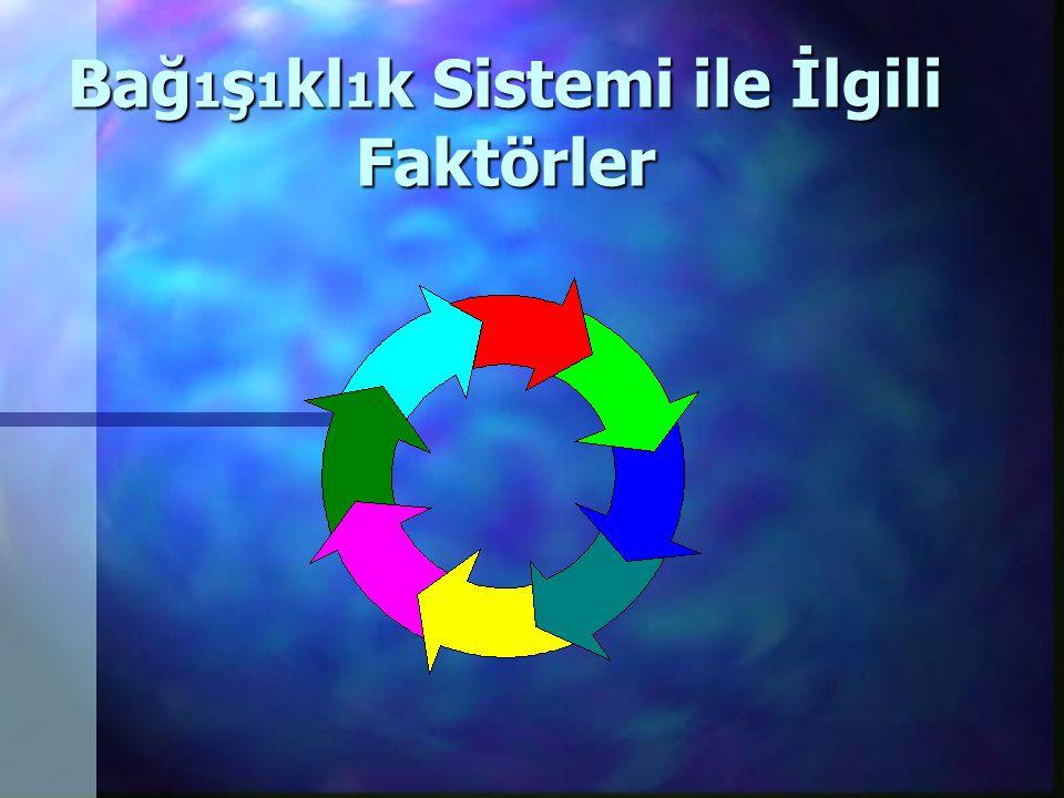Bağ1ş1kl1k Sistemi ile İlgili Faktörler