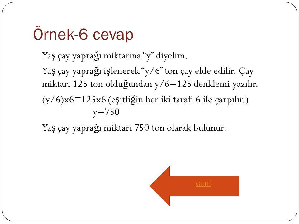 Örnek-6 cevap
