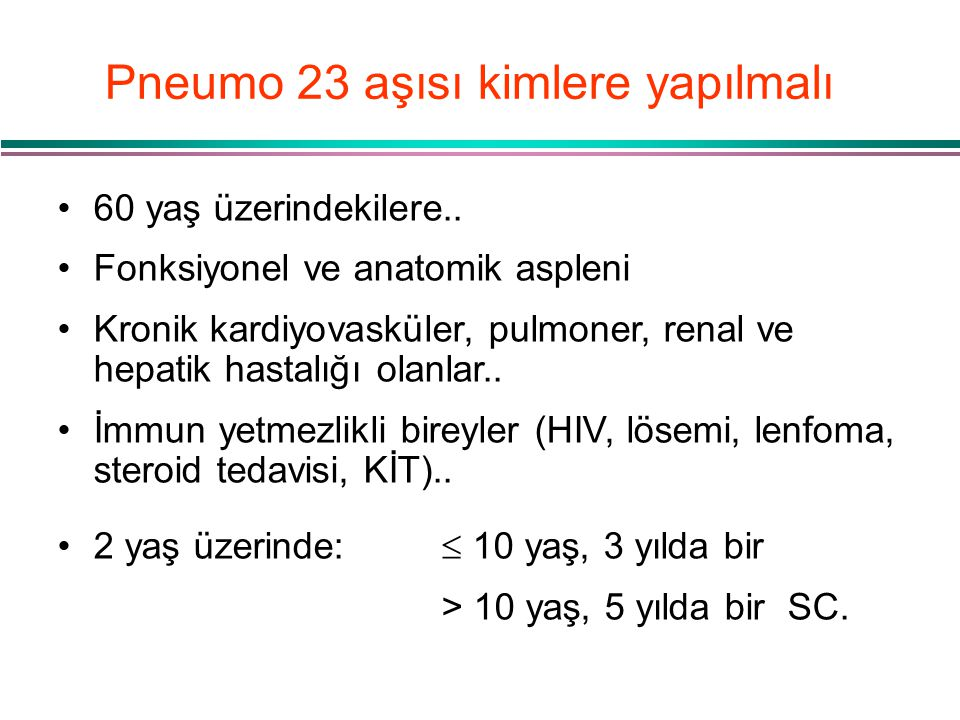 Pneumo 23 aşısı kimlere yapılmalı
