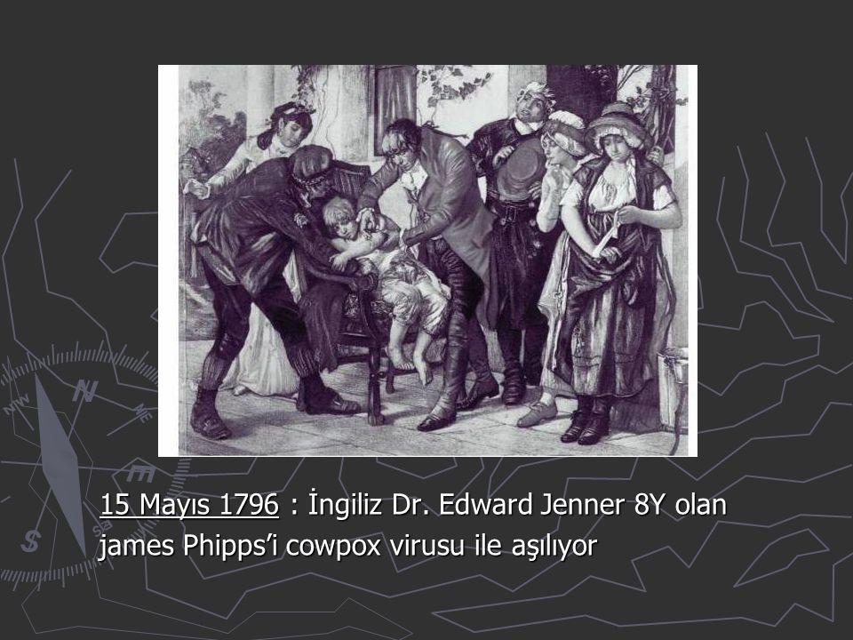 15 Mayıs 1796 : İngiliz Dr. Edward Jenner 8Y olan