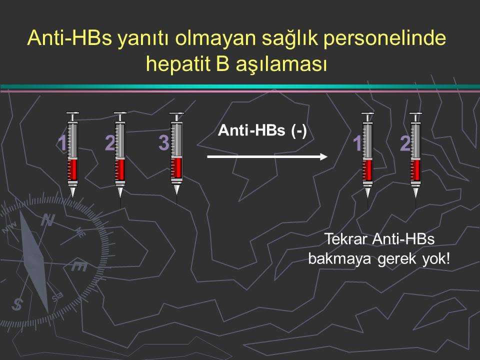 Anti-HBs yanıtı olmayan sağlık personelinde hepatit B aşılaması