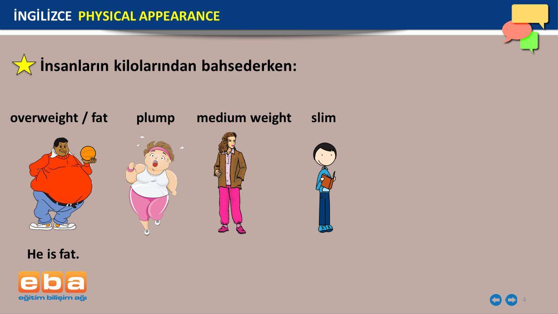 İnsanların kilolarından bahsederken: