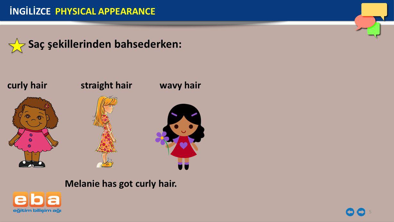 Saç şekillerinden bahsederken: