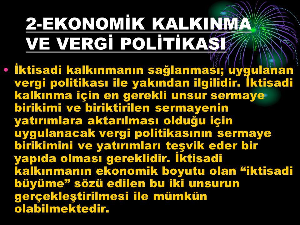 2-EKONOMİK KALKINMA VE VERGİ POLİTİKASI