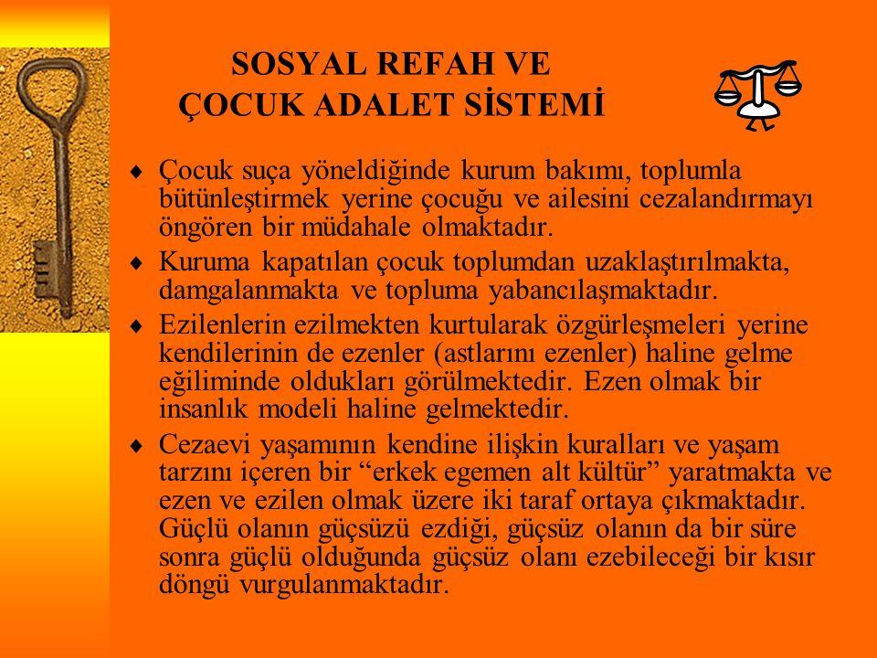 SOSYAL REFAH VE ÇOCUK ADALET SİSTEMİ