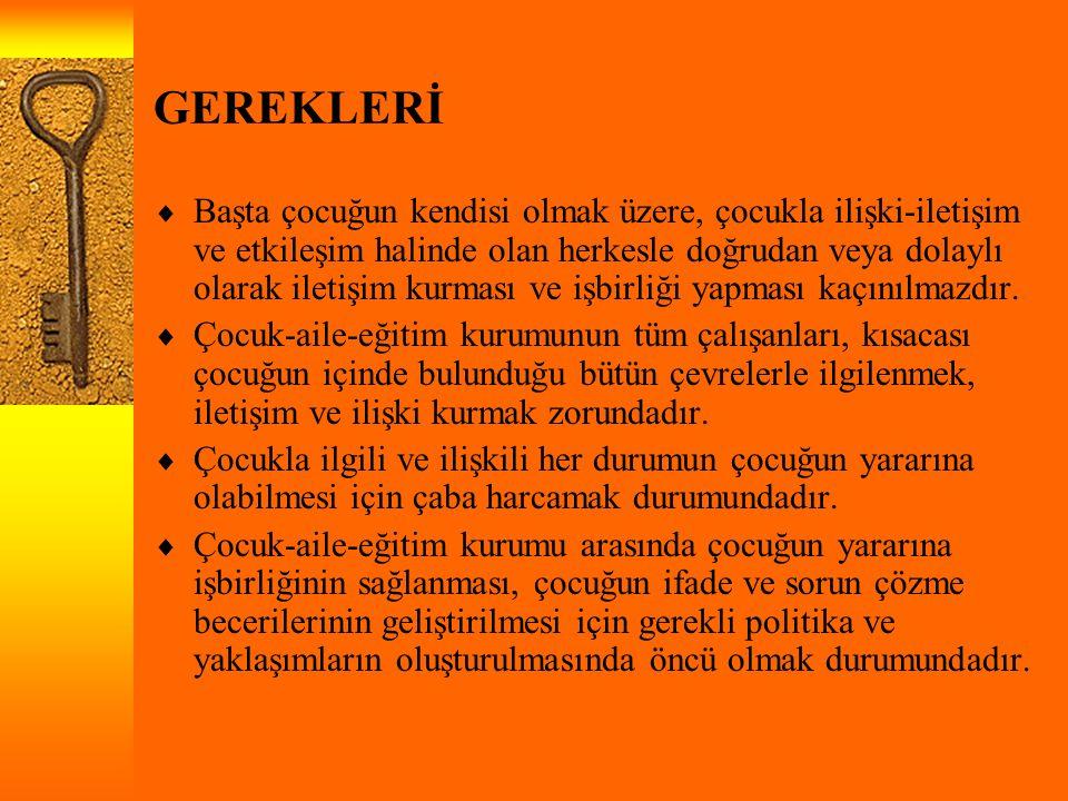 GEREKLERİ