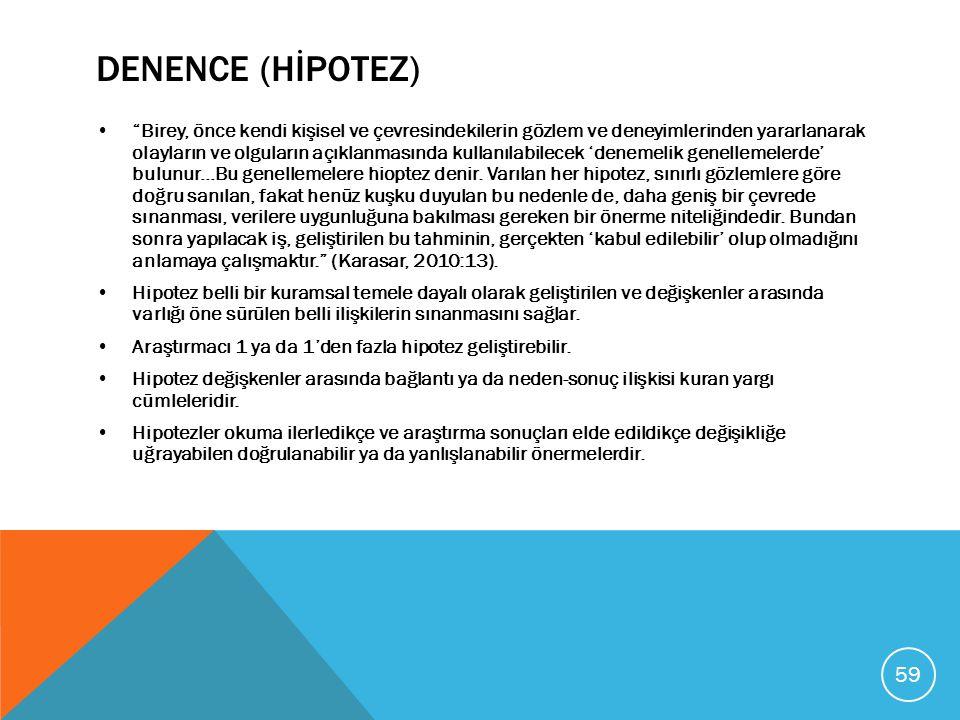 DENENCE (HİPOTEZ)