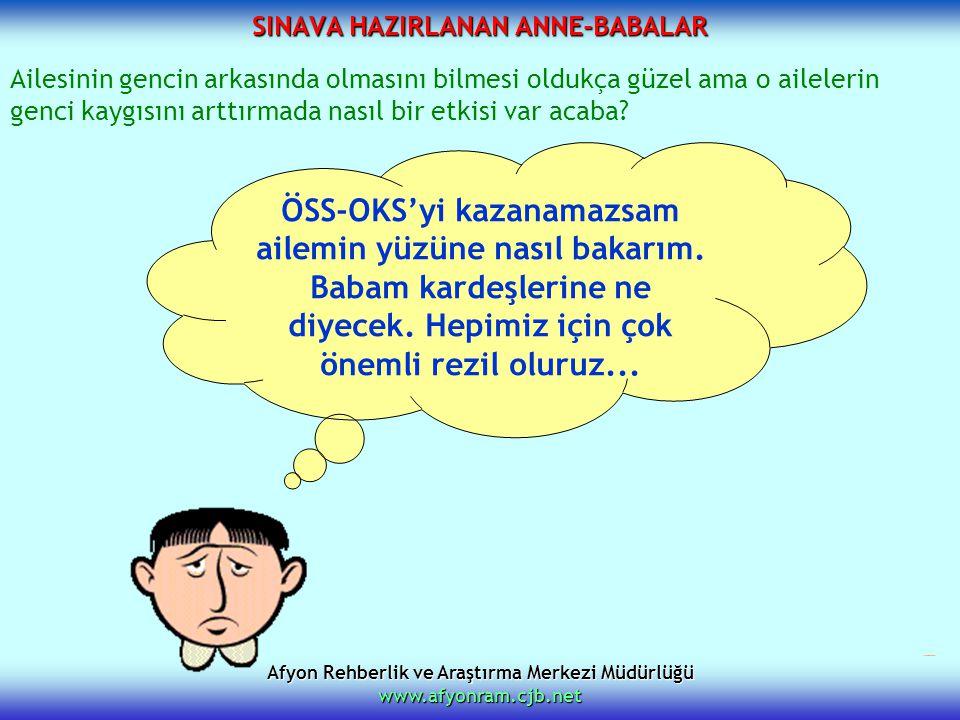 SINAVA HAZIRLANAN ANNE-BABALAR