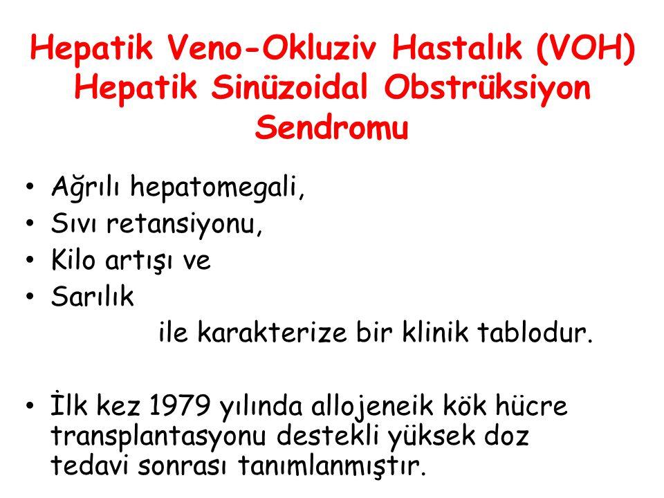 Hepatik Veno-Okluziv Hastalık (VOH) Hepatik Sinüzoidal Obstrüksiyon Sendromu